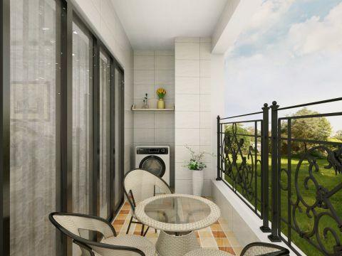 阳台背景墙简欧风格装修效果图