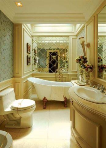 浴室浴缸欧式风格装潢图片