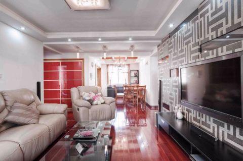 客厅电视柜混搭风格装修效果图