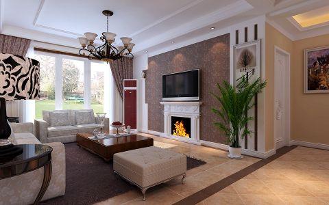客厅吊顶欧式风格装潢图片