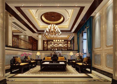 客厅茶几新中式风格装饰图片
