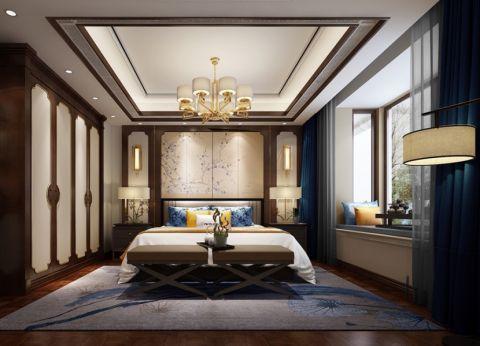 卧室照片墙新中式风格效果图