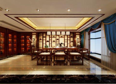 餐厅窗帘新中式风格装修效果图