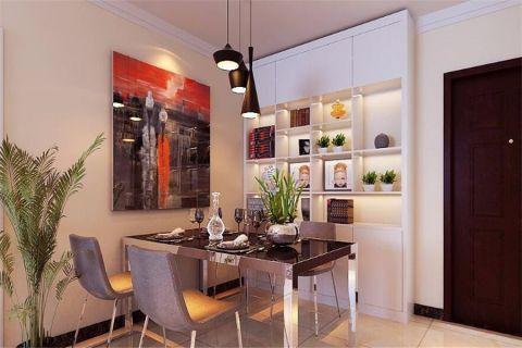 餐厅博古架现代简约风格装修图片