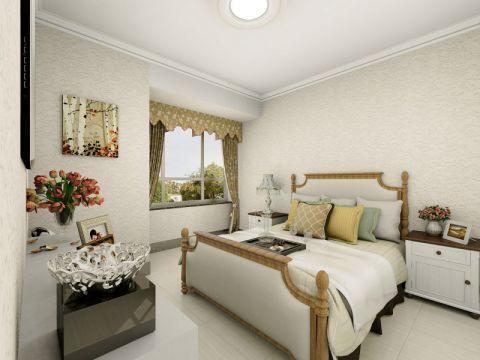 卧室飘窗简欧风格装饰设计图片