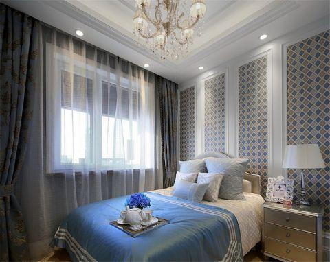 卧室床头柜法式风格装潢效果图
