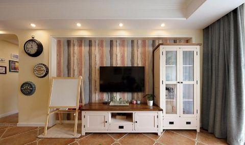 客厅电视柜田园风格装潢效果图