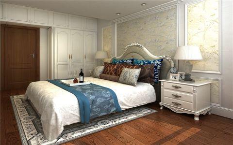 卧室米色床头柜欧式风格装潢图片