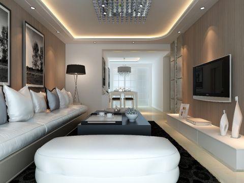 简约风格80平米公寓室内装修效果图
