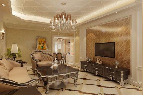 90平米欧式风格风格小户型家装效果图