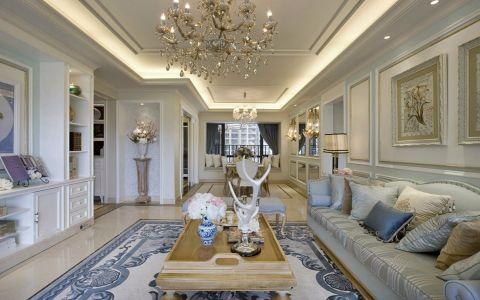 客厅吊顶法式风格装潢设计图片