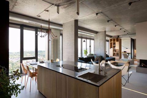 现代简约风格300平米别墅室内装修效果图