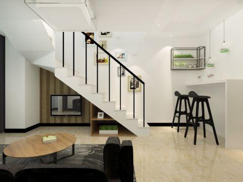 80平简约现代风格三居室装修效果图