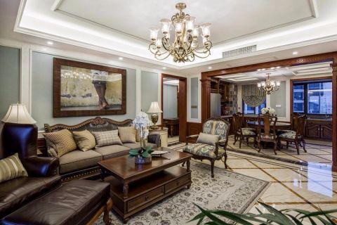 东盟中央城美式风格四居室装修效果图