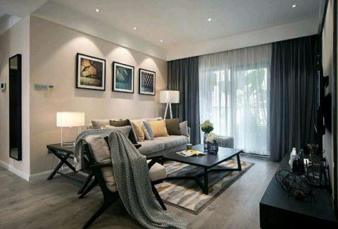 现代简约风格100平米一居室室内装修效果图