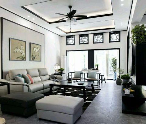 新中式风格340平米别墅室内装修效果图