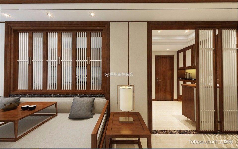 客厅白色灯具新中式风格装饰设计图片
