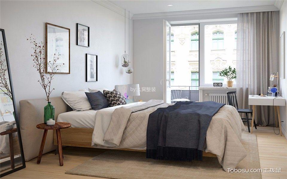 卧室白色照片墙北欧风格装潢图片