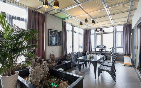 餐厅黄色吊顶现代风格装饰效果图