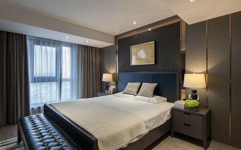 卧室咖啡色窗帘现代风格装潢图片