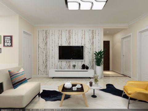 客厅黄色茶几简约风格装修效果图