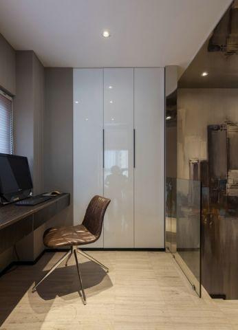 书房黄色地板砖现代风格装潢效果图