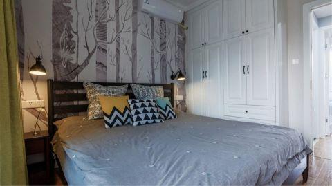 卧室白色衣柜北欧风格装饰效果图