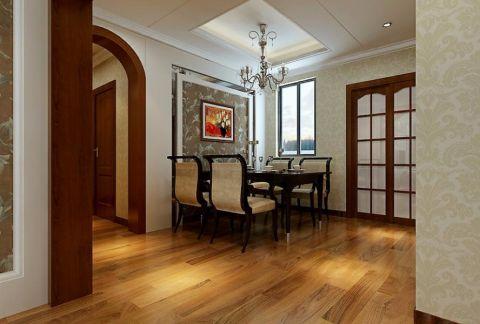 餐厅橙色地板砖简欧风格装饰图片