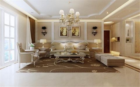 欧式风格150平米公寓新房装修效果图
