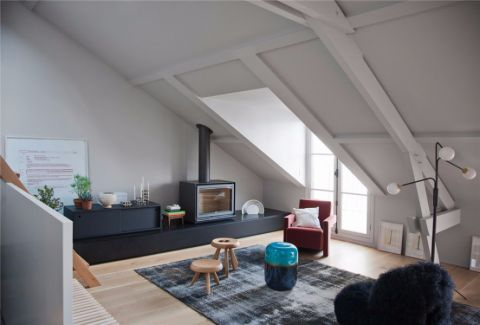 北欧风格120平米复式室内装修效果图