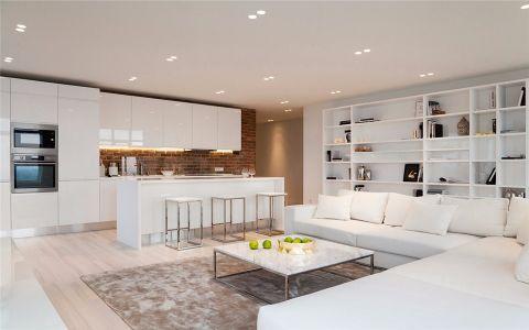 简约风格130平米公寓室内装修效果图