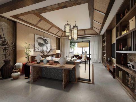 自建别墅新中式风格设计效果图