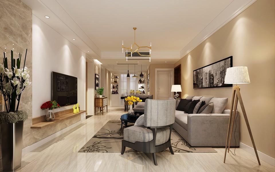 4室2卫2厅108平米现代简约风格