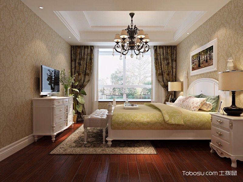 卧室 床_欧式风格120平米公寓新房装修效果图