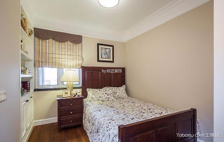 卧室黄色窗帘美式风格装潢效果图