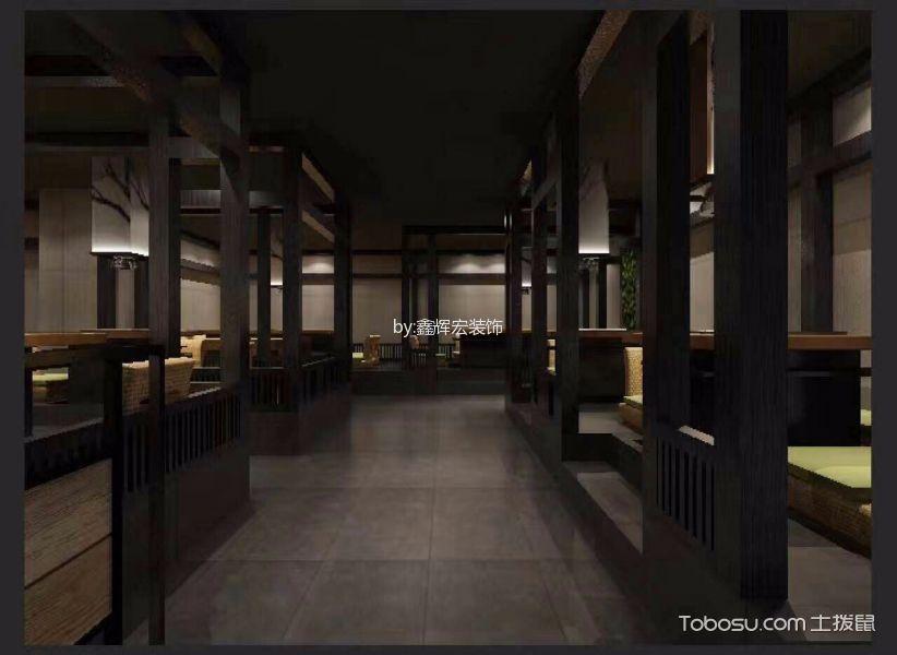 真无双日本料理连锁店走廊装饰实景图