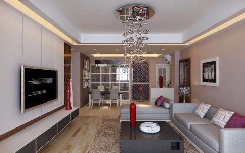 现代简约风格100平米公寓室内装修效果图