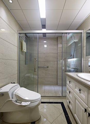 卫生间白色吊顶现代中式风格装修效果图