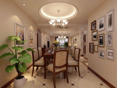 餐厅白色吊顶欧式风格装饰图片