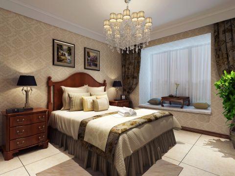 卧室黄色飘窗欧式风格装潢图片