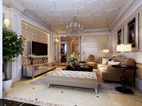 欧式风格120平米公寓新房装修效果图