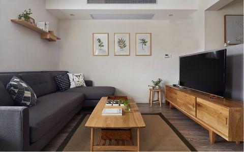 日式风格70平米两室两厅新房装修效果图
