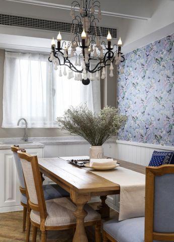 餐厅白色窗帘现代简约风格装修效果图