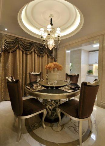 餐厅白色吊顶欧式风格装潢图片