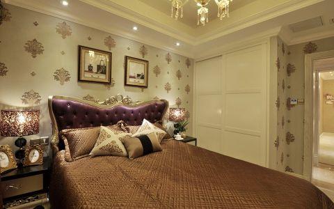 卧室黄色照片墙欧式风格装修设计图片