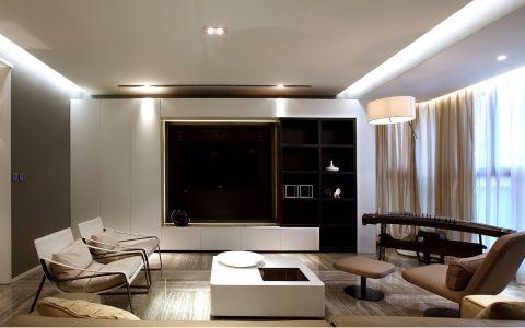客厅咖啡色现代风格装饰图片