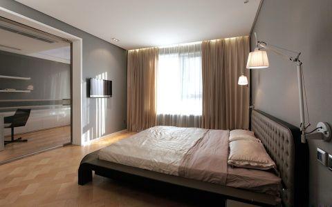 卧室橙色地板砖现代风格装修设计图片