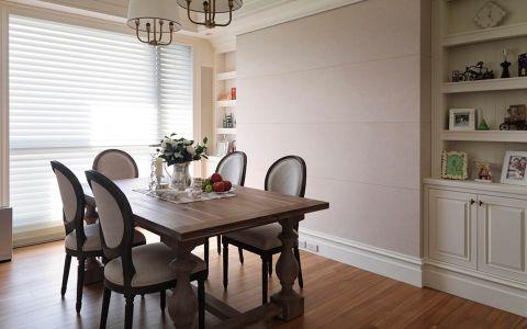 餐厅白色窗帘美式风格效果图