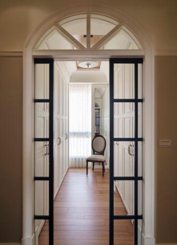 玄关咖啡色走廊美式风格装饰效果图