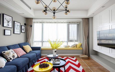 客厅灰色照片墙简单风格装饰图片